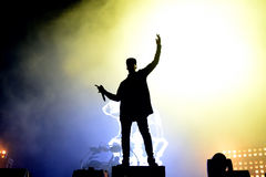 Chase & Status (British electronic music production duo band) performs at FIB Royalty Free Stock Photo