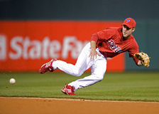 Chase Utley. Second baseman, Philadelphia Phillies Royalty Free Stock Photo