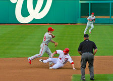 Chase Utley and Bryce Harper Royalty Free Stock Image