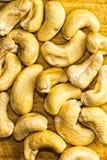 Chashews Closeup. Closeup of cashews. Studio shot Royalty Free Stock Image