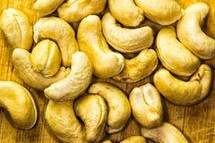 Chashews Closeup. Closeup of cashews. Studio shot Royalty Free Stock Photography
