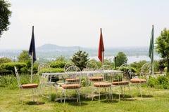 Chashme Shahi ogródu Mughal ogród w Srinagar Zdjęcia Royalty Free