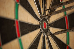 Chasing a bullseye/missing the mark Stock Images