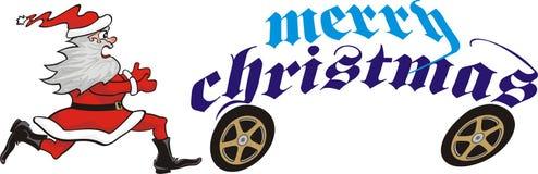 Chasing christmas santa Royalty Free Stock Photos