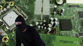 Chasing cyber criminal stock footage
