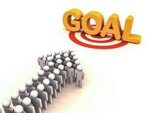 Chasing goal Stock Image