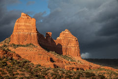 Chasing light on the Sedona backroads 5. Backroads of Sedona with amazing light adding richness and depth to the rock formations Stock Image
