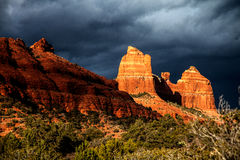 Chasing light on the Sedona backroads 6. Backroads of Sedona with amazing light adding richness and depth to the rock formations Royalty Free Stock Images