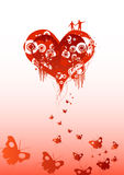 Chasing Love. A couple on a abstract heart chasing love stock illustration