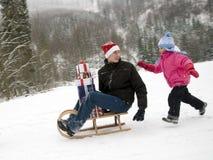 Chasing Santa Claus Royalty Free Stock Photo