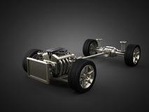 Chasis del coche con el motor Foto de archivo libre de regalías