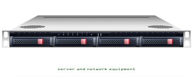 Chasis montado en rack del servidor stock de ilustración