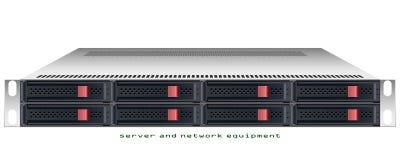 Chasis montado en rack del servidor ilustración del vector