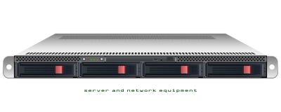 Chasis montado en rack 1u del servidor ilustración del vector