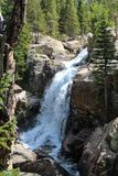 Chasm Falls in Rocky Mountain National Park. This is Chasm Falls in Rocky Mountain National Park on Old Fall River Road royalty free stock image