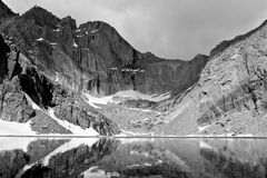 Chasm Lake Below The Diamond Face of Longs Peak. Royalty Free Stock Images