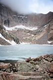 Chasm Lake, Rocky Mountains Stock Photos