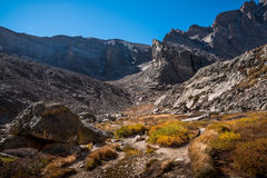 Chasm Lake Trail, Rocky Mountain National Park, Colorado Royalty Free Stock Images