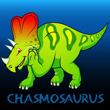Chasmosaurus cute character dinosaurs Stock Photos
