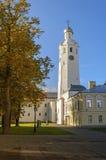 Chasozvonya (torre de reloj) de Sophia Cathedral, Veliky Novgorod Fotos de archivo
