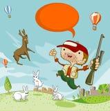 Chasse de cerfs communs Photo stock