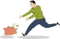 Chasse de l'argent Photos libres de droits