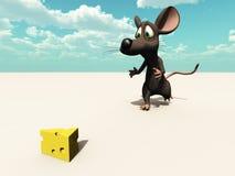 Chasse de souris à l'extérieur Images stock