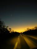Chasse du coucher du soleil au merdida Images libres de droits