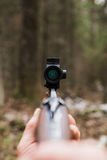 Chasse du fusil avec la vue de collimateur photographie stock