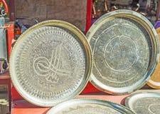 Chasse du métal ouvré sur le marché d'Antalya Photographie stock libre de droits