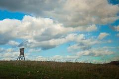 Chasse du support dans le paysage agricole européen Photos libres de droits