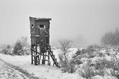 Chasse en hiver Images libres de droits