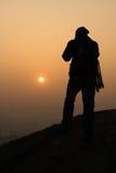 Chasse pour le lever de soleil au printemps Photo stock