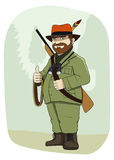 Chasseur illustration stock
