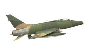 Chasseur-bombardier de jet de vintage d'isolement. Photographie stock libre de droits