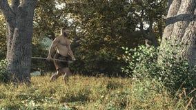 Chasseur d'été neandertal photographie stock
