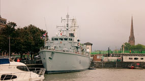 Chasseur de mines HMS Atherstone Images stock