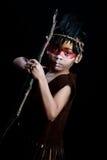 Chasseur de natif américain photographie stock libre de droits