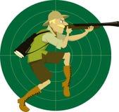 Chasseur de safari illustration de vecteur