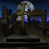 Chasseur de vampire - chiffre de Veille de la toussaint Images libres de droits