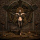 Chasseur de vampire - chiffre de Veille de la toussaint Photos stock