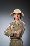 Chasseur drôle de safari Image stock