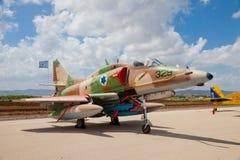 Chasseur F-16 avec l'étoile israélienne peinte à bord Photo stock