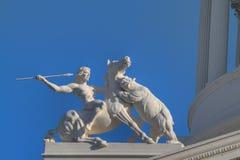 Chasseur HDR de sculpture en capitol Image stock