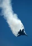 Chasseur russe Sukhoi Su-30MKI en vol Photographie stock
