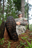 Chasseur - sportif Photographie stock