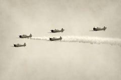 Chasseurs de la deuxième guerre mondiale Photos stock