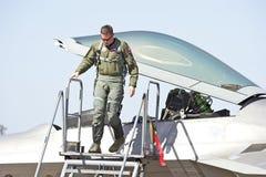 Chasseurs tactiques de Lockheed Martin F-22 Raptor Photographie stock libre de droits