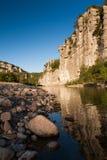 Chassezac峡谷在Ardeche的,法国 库存照片