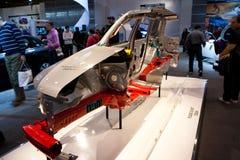 Chassi do carro de Subaru Impreza no indicador Imagem de Stock Royalty Free